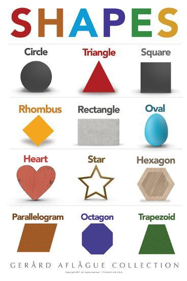 Shapes Poster By Gerard Aflague Collection At Allposters Com