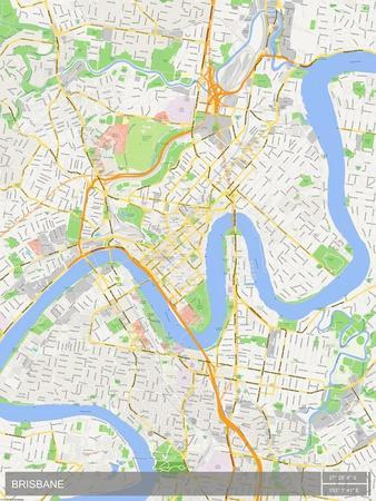 Brisbane, Australia Map