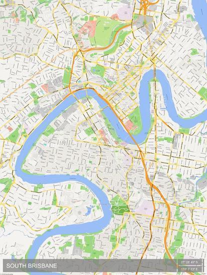 Map Of Brisbane Australia.South Brisbane Australia Map