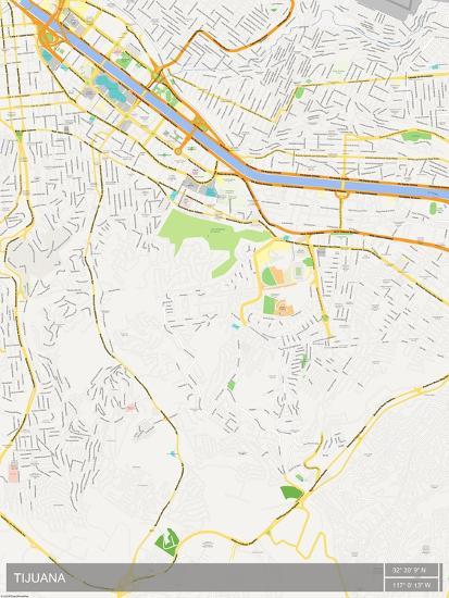 Tijuana Mexico Map Poster At Allposters Com