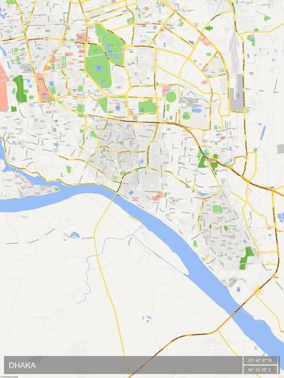 Dhaka, Bangladesh Map