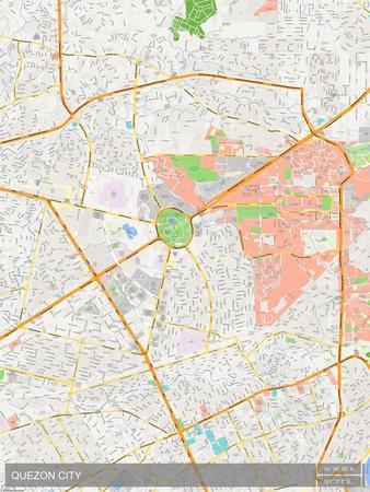 Quezon City, Philippines Map