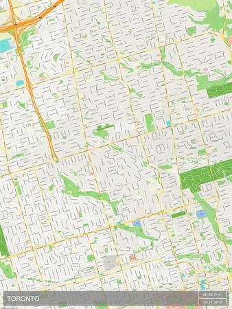 Toronto Canada Map Prints At Allposters Com