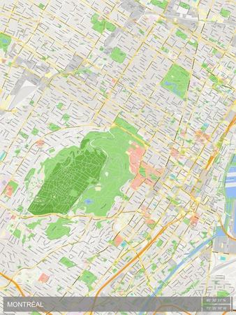 Canada Map Montreal.Montreal Canada Map Prints At Allposters Com