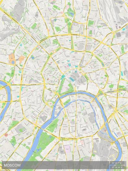 Moscow, Russian Federation Map Photo at AllPosters.com
