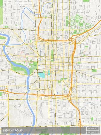Indianapolis United States Of America Map Posters At Allposters Com