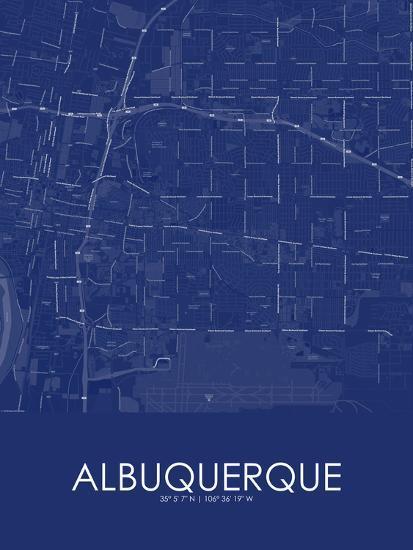 Albuquerque, United States of America Blue Map Prints at AllPosters.com