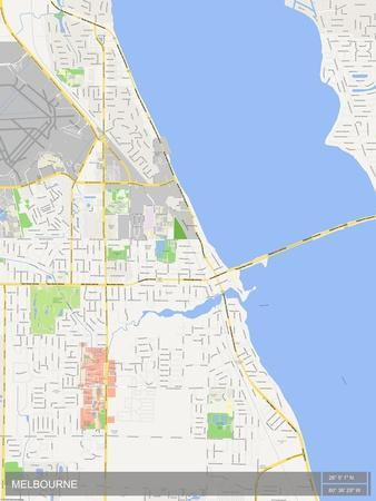 Melbourne, United States of America Map