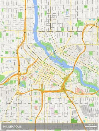 Minneapolis United States Of America Map Posters At Allposters Com