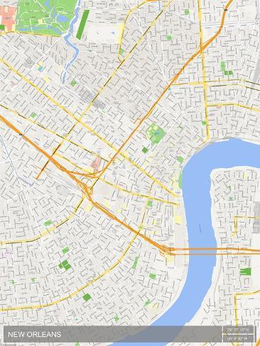 New Orleans In Usa Map.New Orleans United States Of America Map Posters At Allposters Com