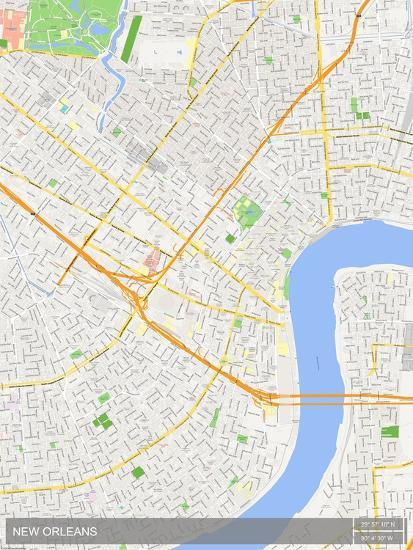 New Orleans United States Of America Map Posters At Allposters Com