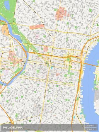 Philadelphia United States Of America Map Prints At Allposterscom - Philadelphia-us-map