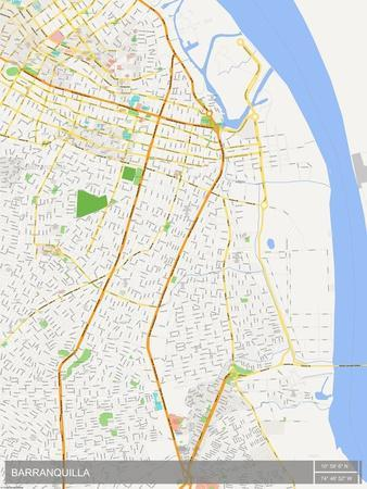 Barranquilla, Colombia Map