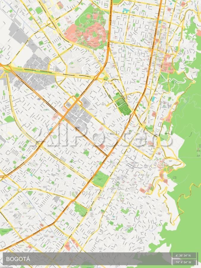 Bogota, Colombia Map