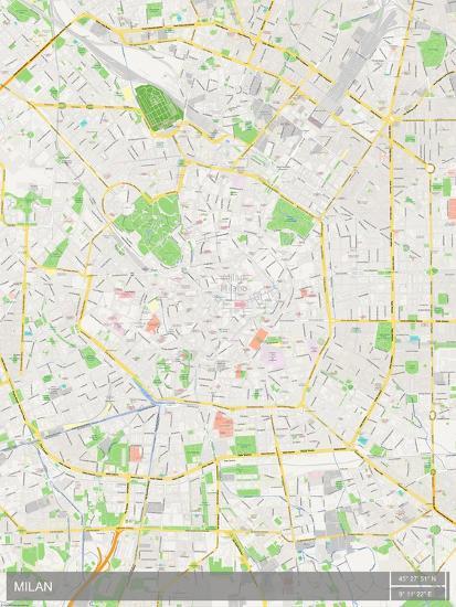 Italy Map Milan.Milan Italy Map Prints At Allposters Com