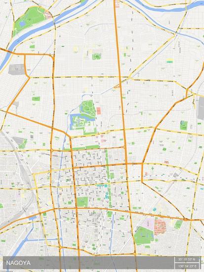 Nagoya, Japan Map Posters at AllPosters.com