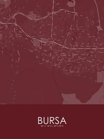 Bursa, Turkey Red Map