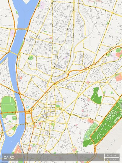 Cairo Egypt Map Prints At Allposters Com