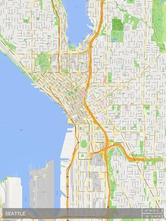 Us Map Seattle.Seattle United States Of America Map Posters At Allposters Com