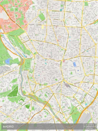 Madrid Spain Map Prints Allposters Com
