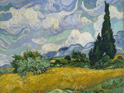 Wheat Field with Cypresses, 1889