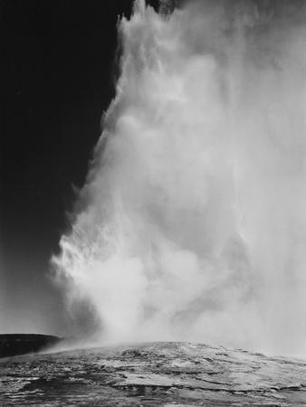 """Various Angles During Eruption. """"Old Faithful Geyser Yellowstone National Park"""" Wyoming  1933-1942"""
