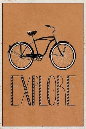 Explore Retro Bicycle Player Art Poster Print