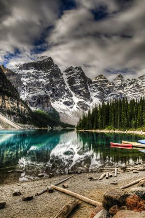 Scenic Mountain Landscape of Moraine Lake and the Valley of Ten Peaks, Banff National Park Alberta