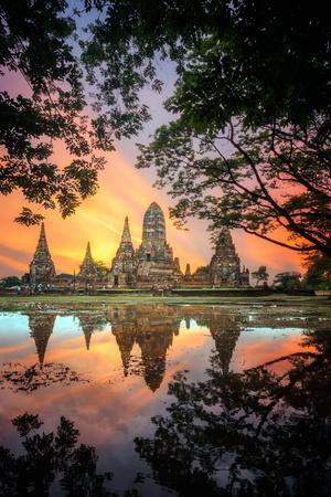 Old Temple Wat Chaiwatthanaram in Ayutthaya,Thailand