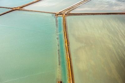 Saline Aerial View in Shark Bay Monkey Mia Australia