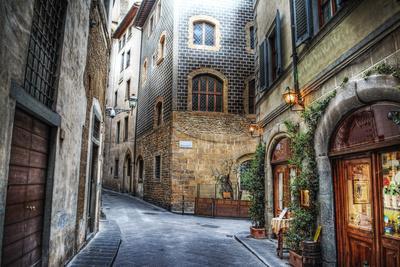 Beautiful Narrow Street in Florence, Italy