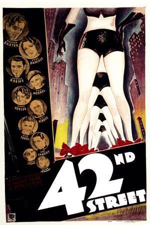 42nd Street, with Warner Baxter, Bebe Daniels, George Brent, and Una Merkel, 1933