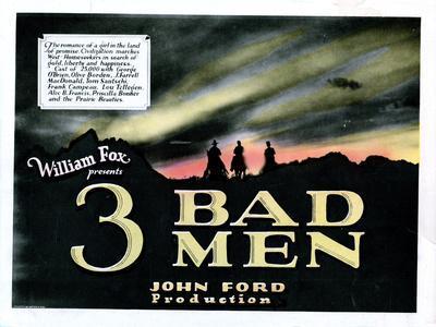 3 Bad Men, Title Card, 1926