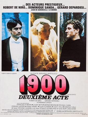 1900, French Poster Art, from Left: Robert De Niro, Dominique Sanda, Gerard Depardieu, 1976