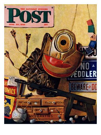 """Still Life of Boys Toys,"" Saturday Evening Post Cover, June 30, 1945"