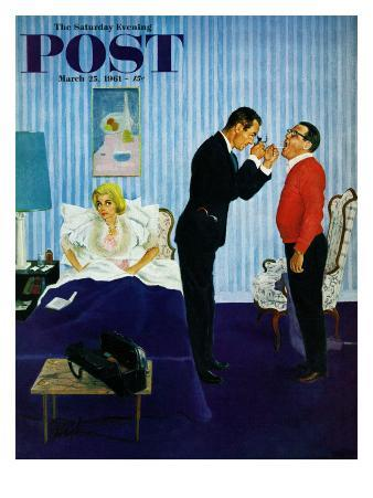 """House Call,"" Saturday Evening Post Cover, March 25, 1961"