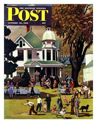 """""""Family Reunion,"""" Saturday Evening Post Cover, October 20, 1945"""