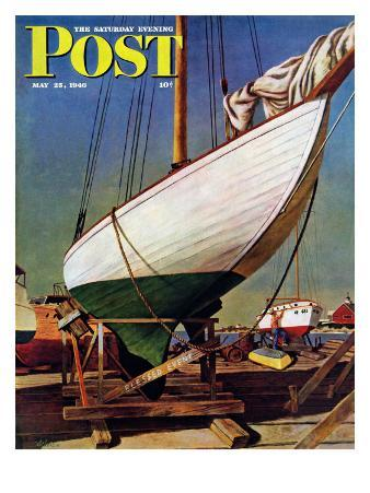 """""""Dry Dock,"""" Saturday Evening Post Cover, May 25, 1946"""