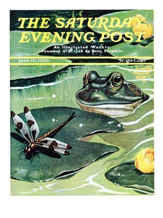 """Dinnertime!,"" Saturday Evening Post Cover, June 10, 1939"