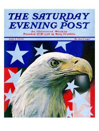 """Sam the American Eagle,"" Saturday Evening Post Cover, July 1, 1939"