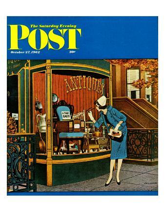 """Antique TV,"" Saturday Evening Post Cover, October 27, 1962"