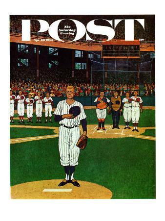 """Baseball Fight,"" Saturday Evening Post Cover, April 28, 1962"