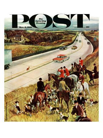 """Foxhunters Outfoxed,"" Saturday Evening Post Cover, December 2, 1961"