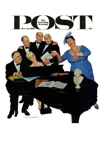 """""""The Fat Lady Sings,"""" Saturday Evening Post Cover, December 16, 1961"""