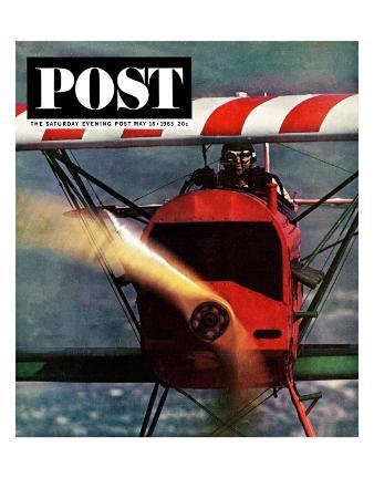 """1918 Fokker D-7,"" Saturday Evening Post Cover, May 18, 1963"