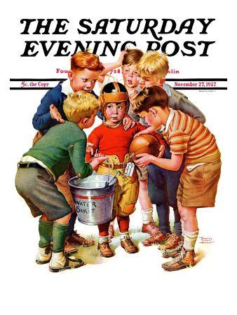 """You Can Be the Water Boy!,"" Saturday Evening Post Cover, November 27, 1937"