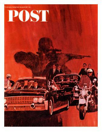 """""""The Kennedy Assassination,"""" Saturday Evening Post Cover, January 14, 1967"""