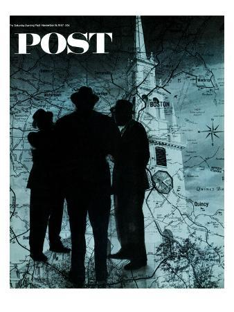 """""""Mafia in Boston,"""" Saturday Evening Post Cover, November 18, 1967"""