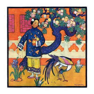 """Japanese Woman in Garden,""March 2, 1929"