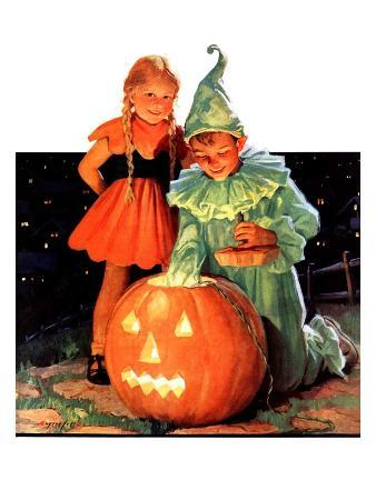 """Lighting the Pumpkin,""November 3, 1934"